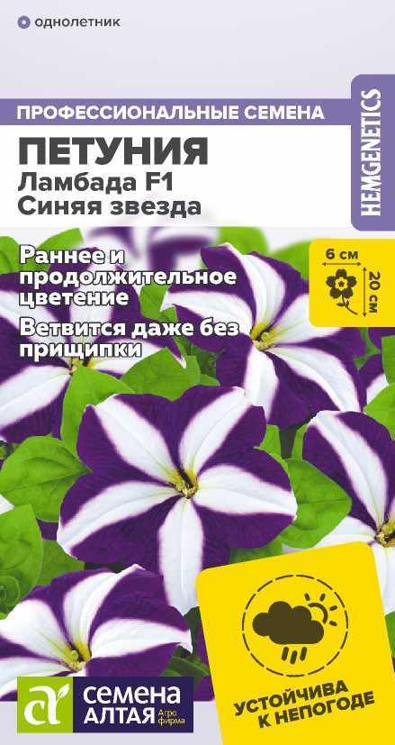 Цветы Петуния Ламбада Синяя Звезда/Сем Алт/цп 10 шт.