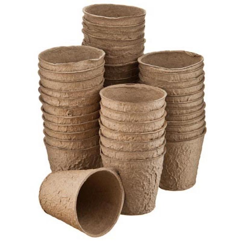 Горшки Торфяные Фаско 110*100  (1 упаковка = 112 шт) круглые